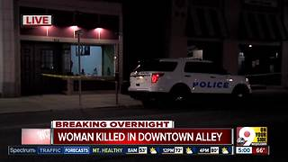 PD: Woman killed in Downtown alley - Video