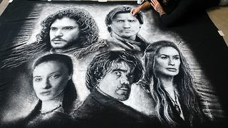 Artist uses salt to create incredibly realistic 'Game of Thrones' portrait - Video