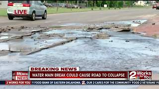 Water main break - Video