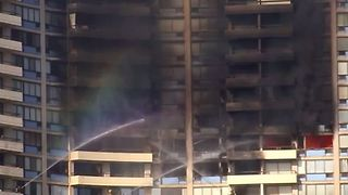 Firefighters Tackle Fatal Waikiki High-Rise Blaze - Video
