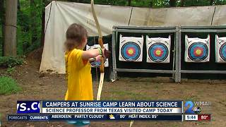 Campers at Sunrise Camp learn about science - Video