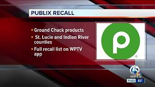 Publix recalling ground chuck products due to possible E.coli contamination