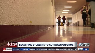 Tonight at 11: Searching students to cut down on crime in Las Vegas