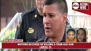Mother of 2-year-old charged with murder | press conference - Video