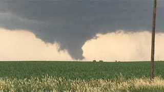 Tornado Forms in Fields Near Prairiebug - Video