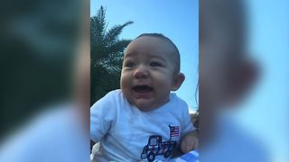 Baby Loves To Laugh At Fireworks