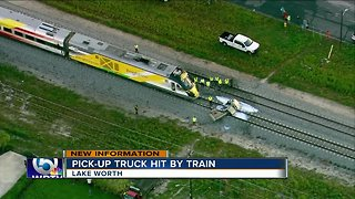 Pickup truck struck by Brightline train in Lake Worth - Video