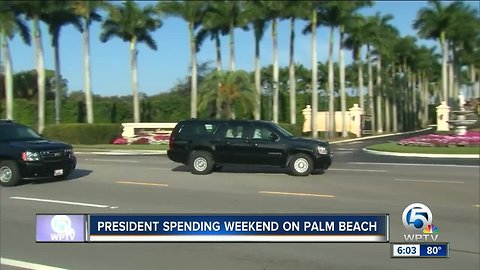 President Trump spending the weekend on Palm Beach