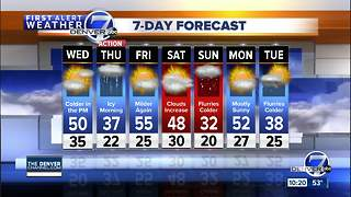 Mild in Denver now, but icy roads are on the way - Video
