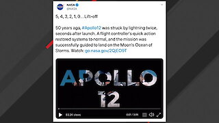 NASA: Lightning Struck Apollo 12 Twice After Launch