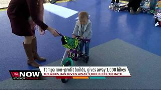 Local non-profit builds, gives 1,000 bikes away - Video