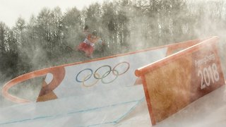 Strong Winds At The Winter Olympics Keep Causing Problems - Video