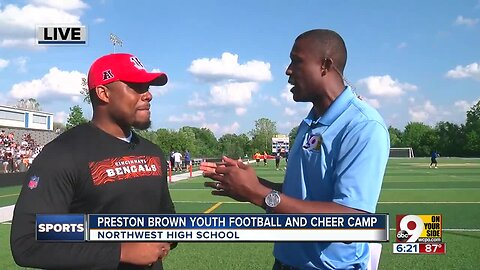 Bengals' Preston Brown leads youth football and cheer camp