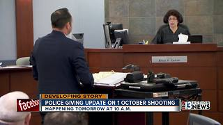 Las Vegas police giving update on 1 October shooting - Video
