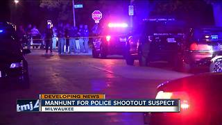 Robbery suspect engages in shootout with Milwaukee police after pursuit - Video