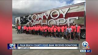 Palm Beach County Food Bank receives donations - Video