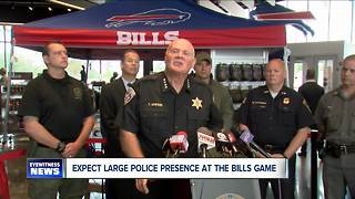 Law Enforcement effort to prevent problems at Bills game - Video