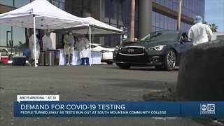 People turned away as tests run out at South Mountain Community College