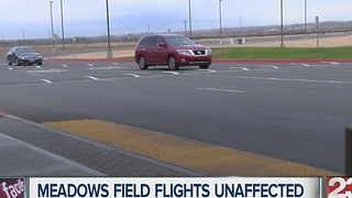 Meadows Field flights unaffected by weather - Video