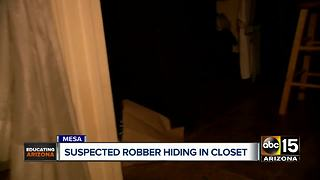 Armed robbery suspect caught hiding in Mesa homeowner's closet - Video