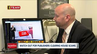 Watch out for Publishers Clearing House Scams - Video