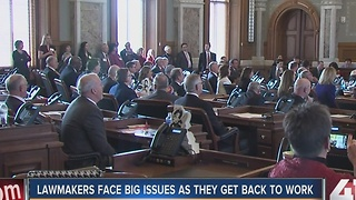 Kansas lawmakers return to work - Video