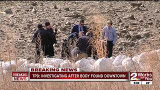 Body found in river near downtown Tulsa - Video