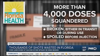 Thousands of vaccines wasted in Florida