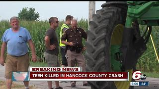 1 teen killed, 2 injured in Hancock Co. crash - Video