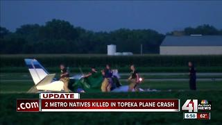 Two Johnson County men dead in small plane crash near Topeka - Video