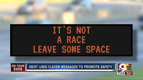 ODOT uses clever messages to promote driver safety