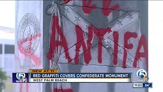 Confederate monument defaced in West Palm Beach - Video