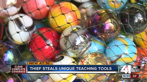 Shawnee instructor loses cherished marbles in car theft