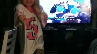 Delighted Pennsylvania Girl Breaks into a Dance After Eagles Win - Video