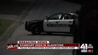 Shooting suspect dead after standoff with Gladstone police - Video