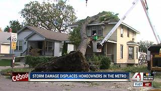 Chainsaws put to work Sunday on storm damage - Video