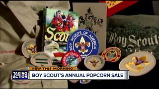 Boy Scout's annual popcorn sale - Video