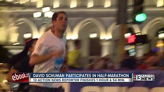 Reporter David Schuman crosses finish line - Video