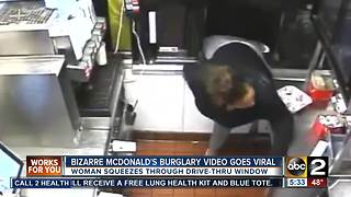 Bizarre McDonald's burglary video goes viral - Video