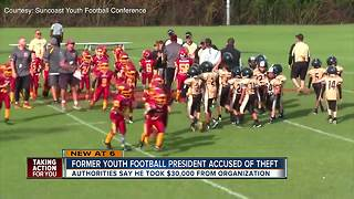 Former youth football president arrested for stealing thousands of dollars - Video