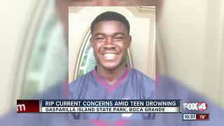 Rip current concerns amid teen drowning - Video