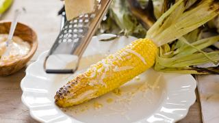 Grilled Corn with Chipotle Butter and Cheese - Video