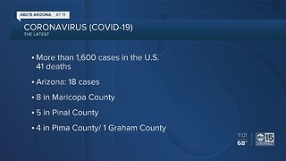More coronavirus cases reported in Arizona