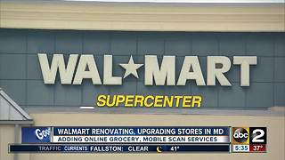 Walmart renovating, upgrading stores in Maryland - Video