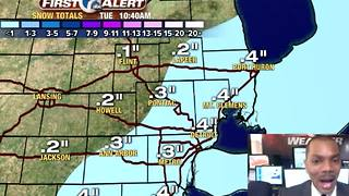 Another batch of overnight snow - Video