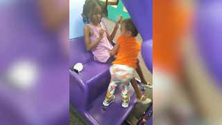 Tot Girl Scared Of Chuck E Cheese - Video