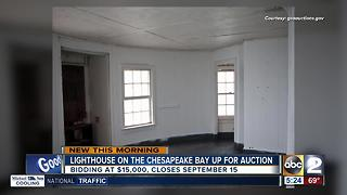 Lighthouse on Chesapeake Bay up for auction - Video