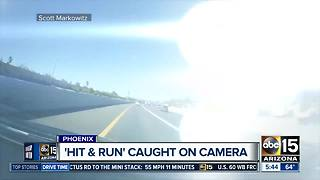 Scary Valley hit-and-run crash caught on dash camera - Video