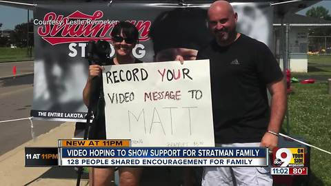 StratmanStrong: Supporters record video messages for Matt Stratman, lacrosse player in coma