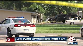 Hostage situation on Indy's west side ends peacefully, suspect surrenders - Video
